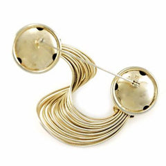 Vintage Brooch Huge Statement Gold Tone Abstract Swirl 1940S Large - The Best Vintage Clothing  - 2