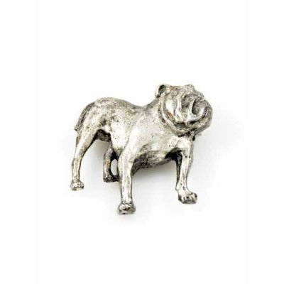 Vintage Brooch Silver British Bulldog 1940S - The Best Vintage Clothing  - 1
