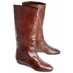 Vintage Ladies Brown  Leather Riding Boots Henri Bendel 1984 Size 10 Original Box - The Best Vintage Clothing  - 1