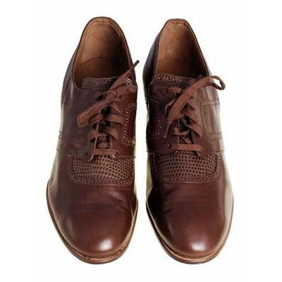 Vintage Brown Leather/Reptile Oxfords Shoes Walk Over 1920S NIB Sz EU37 6.5D - The Best Vintage Clothing  - 1