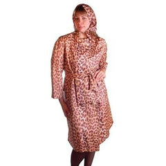 Vintage Cat Print Swing Coat 1950S Acetate /Scarf&Belt - The Best Vintage Clothing