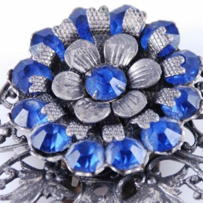 Vintage Cobalt Blue Filigree Dress Clip 1930'S - The Best Vintage Clothing  - 2