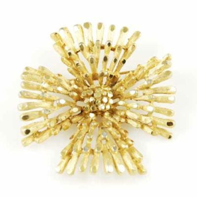 "Vintage Coro Goldtone ""Maltese Cross"" Brooch 1950'S - The Best Vintage Clothing  - 1"
