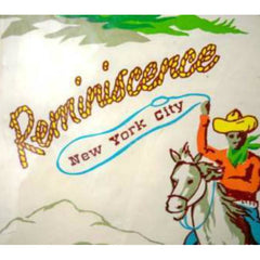 Vintage Cowboy Print Reminiscence Vinyl  NYC 1950'S - The Best Vintage Clothing  - 2