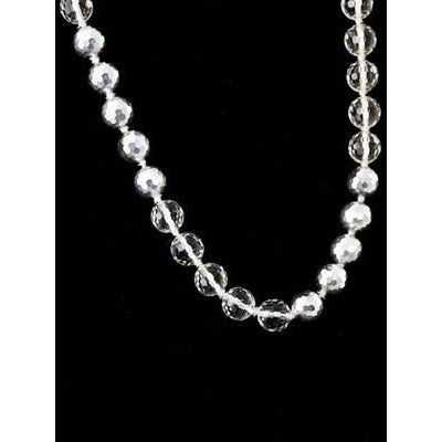 Vintage Estate Jewelry Necklace Rock Crystal/Silver Beads 1920S - The Best Vintage Clothing  - 2