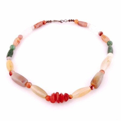 "Vintage Natural Gemstone Necklace Chunky Heavy Stones 22"" - The Best Vintage Clothing  - 1"