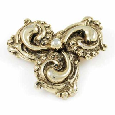 "Vintage Goldtone Baroque Revival Statement Brooch 1940s 2 1/2"" - The Best Vintage Clothing  - 1"