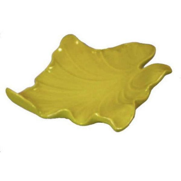 Vintage Mid-Century  Huge Pottery Leaf Bowl Chartreuse 1950's - The Best Vintage Clothing  - 2