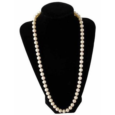 "Vintage Imitation Pearls 8-9 MM Single Strand 24"" 1940S Candlelight - The Best Vintage Clothing  - 1"