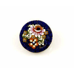 Vintage Italian Mosaic Floral  Brooch 1940'S - The Best Vintage Clothing  - 1