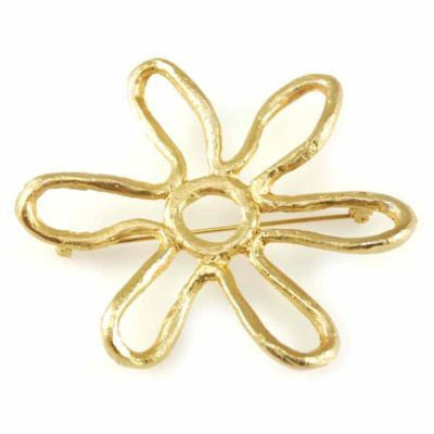 Vintage Joy SIgned Goldtone Abstract Star Brooch 1950'S - The Best Vintage Clothing  - 1