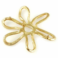 Vintage Joy SIgned Goldtone Abstract Star Brooch 1950'S - The Best Vintage Clothing  - 2