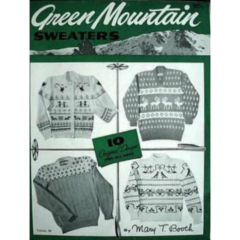 Vintage Knitting Pattern Book Green Mountain Sweaters Booklet 1940-50S