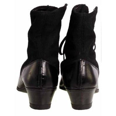 Vintage Black Wool & Leather Lace Up Boots 1910s NIB Womens Sz 8 S S & Co - The Best Vintage Clothing  - 2