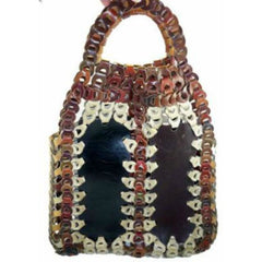 Super Cool Vintage Leather Chain Purse Hand Bag  Hobo Browns 1970'S - The Best Vintage Clothing  - 1