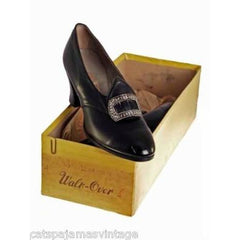 VINTAGE Leather Heels 1920s Walk Over NIB Nice Buckles Size EU36  US 6 - The Best Vintage Clothing  - 3