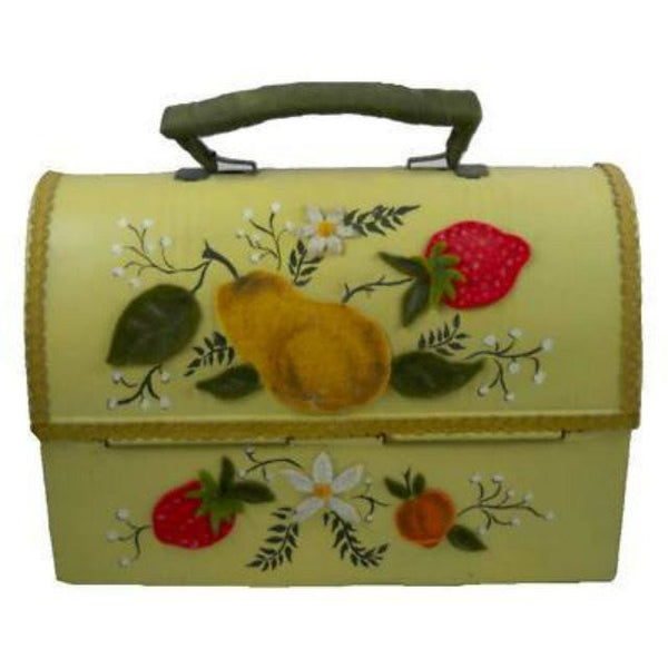 Vintage Tin  Lunch Box Purse Fruit Appliques 1970'S - The Best Vintage Clothing  - 2