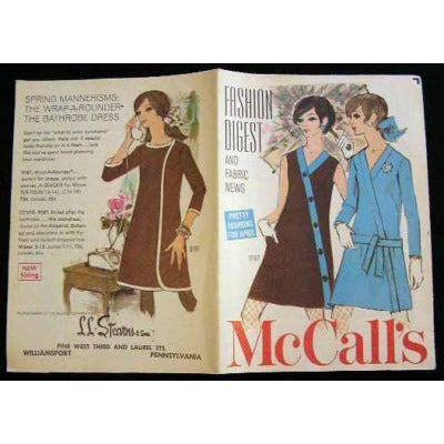 Vintage McCalls Fashion Catalogue Digest And Fabric News April 1968 - The Best Vintage Clothing