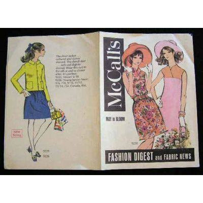 Vintage McCalls Fashion Digest And Fabric News CatalogueFor May 1969 - The Best Vintage Clothing
