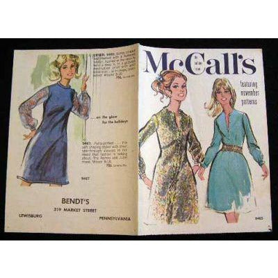 Vintage McCalls Fashion Review Catalogue November Holiday Issue 1960S - The Best Vintage Clothing