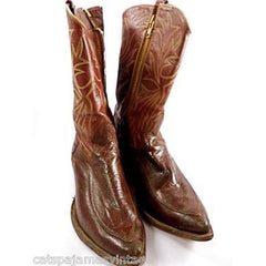 Vintage Mens Custom Made Cowboy Boots Heavy Zipper  Size 12EE - The Best Vintage Clothing  - 3