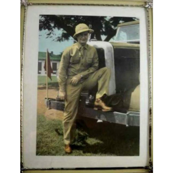 Vintage Military Personnel Print Soldier & Truck Framed WW2 1940s - The Best Vintage Clothing  - 2
