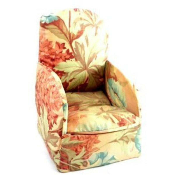 Vintage Miniature Boudoir Chair/Sewing Box Shabby Pink Chintz Print 1930s - The Best Vintage Clothing  - 1