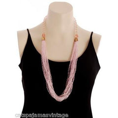 Vintage Miriam Haskell Pink Glass Beads/Seed Beads Necklace - The Best Vintage Clothing  - 3