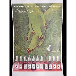 Vintage Nail Polish Peggy Sage Ad Copy Of Orig.1930S - The Best Vintage Clothing