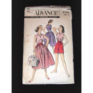 Vintage Pattern Advance Playwear Short Set 1950S - The Best Vintage Clothing
