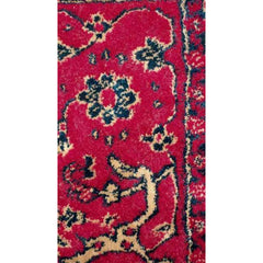 "3 Gorgeous  Vintage Persian Wool Throw Rugs 1940S Red Blue 45"" X 26"" - The Best Vintage Clothing  - 1"