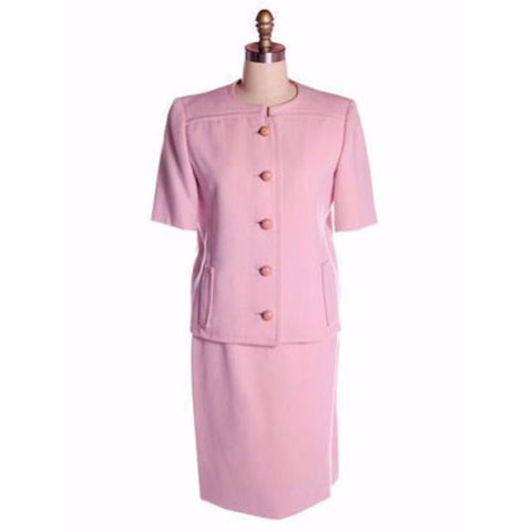 Vintage Pink Wool Suit Ben Zuckerman 1960's SZ 4