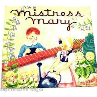 Vintage Pop Up Story Book Mistress Mary Geraldine Clyne 1950s - The Best Vintage Clothing  - 1