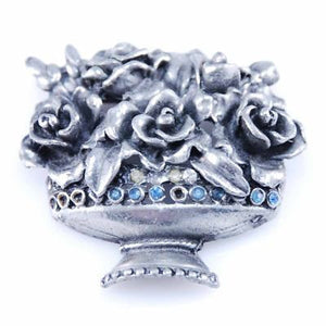 Vintage Pot Metal Floral Brooch Le Blanc 1950'S - The Best Vintage Clothing  - 1