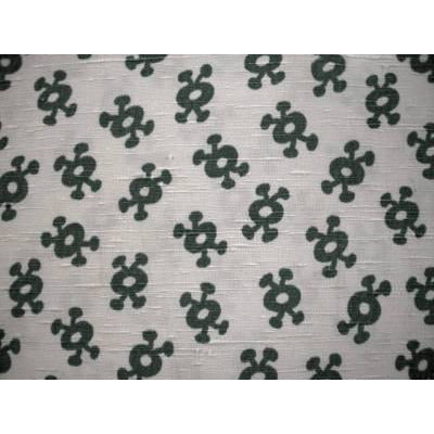 Vintage Rayon Screen-Printed Sample  1940S #5 Green - The Best Vintage Clothing