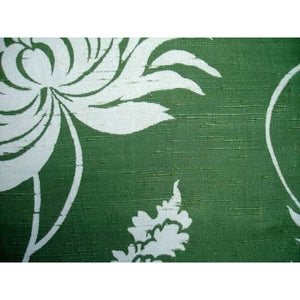 Vintage Rayon Screen-Printed Sample 1940'S #17 Green - The Best Vintage Clothing
