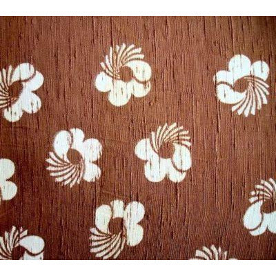 Vintage Rayon Screen-Printed Sample 1940S #42 Brown - The Best Vintage Clothing