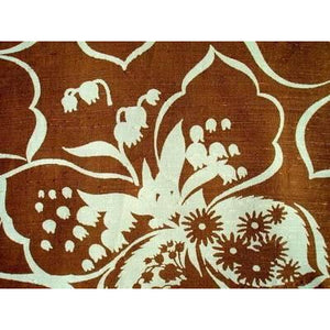 Vintage Rayon Screen-Printed Sample 1940S #46 Brown - The Best Vintage Clothing