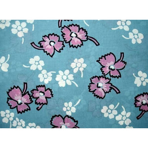 Vintage Rayon Screen-Printed Sample 1940S #89 Blue - The Best Vintage Clothing