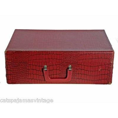 Vintage Red Faux Alligator Nat Nast Bowling Shirt Display Box 1950s - The Best Vintage Clothing  - 3