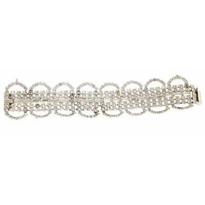 Vintage Rhinestone Bracelet For Costume/Parts 1950S - The Best Vintage Clothing  - 2