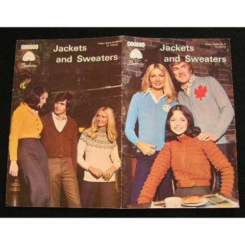 Vintage Crochet Pattern Catalogue  Pattons Jackets/Sweaters Men & Ladies Instructions 1970s