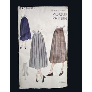 Vintage Sewing Vogue  Pattern #6951 Skirt - The Best Vintage Clothing
