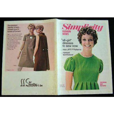 Vintage Simplicity Fashion News Catalogue  For August 1968 - The Best Vintage Clothing