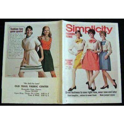 Vintage Simplicity Fashion News Catalogue For August 1968