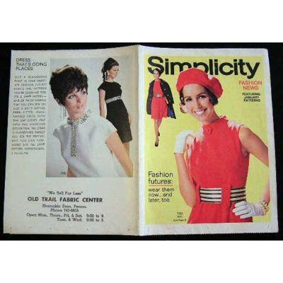 Vintage Simplicity Fashion News Catalogue For January 1968