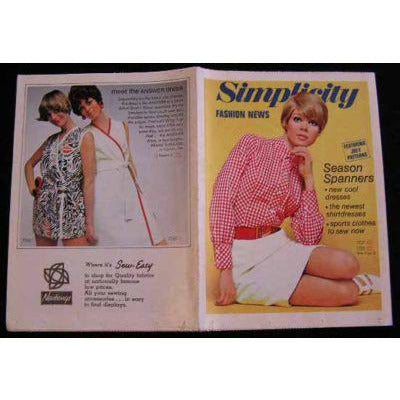 Vintage Simplicity Fashion News Catalogue For July 1968 - The Best Vintage Clothing