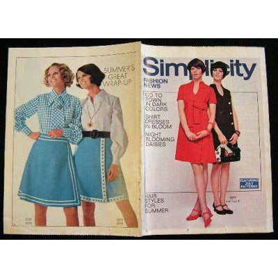 Vintage Simplicity Fashion News Catalogue For July 1969