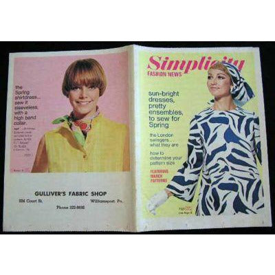 Vintage Simplicity Fashion News Catalogue For March 1968