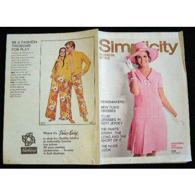 Vintage Simplicity Fashion News Catalogue For May 1969